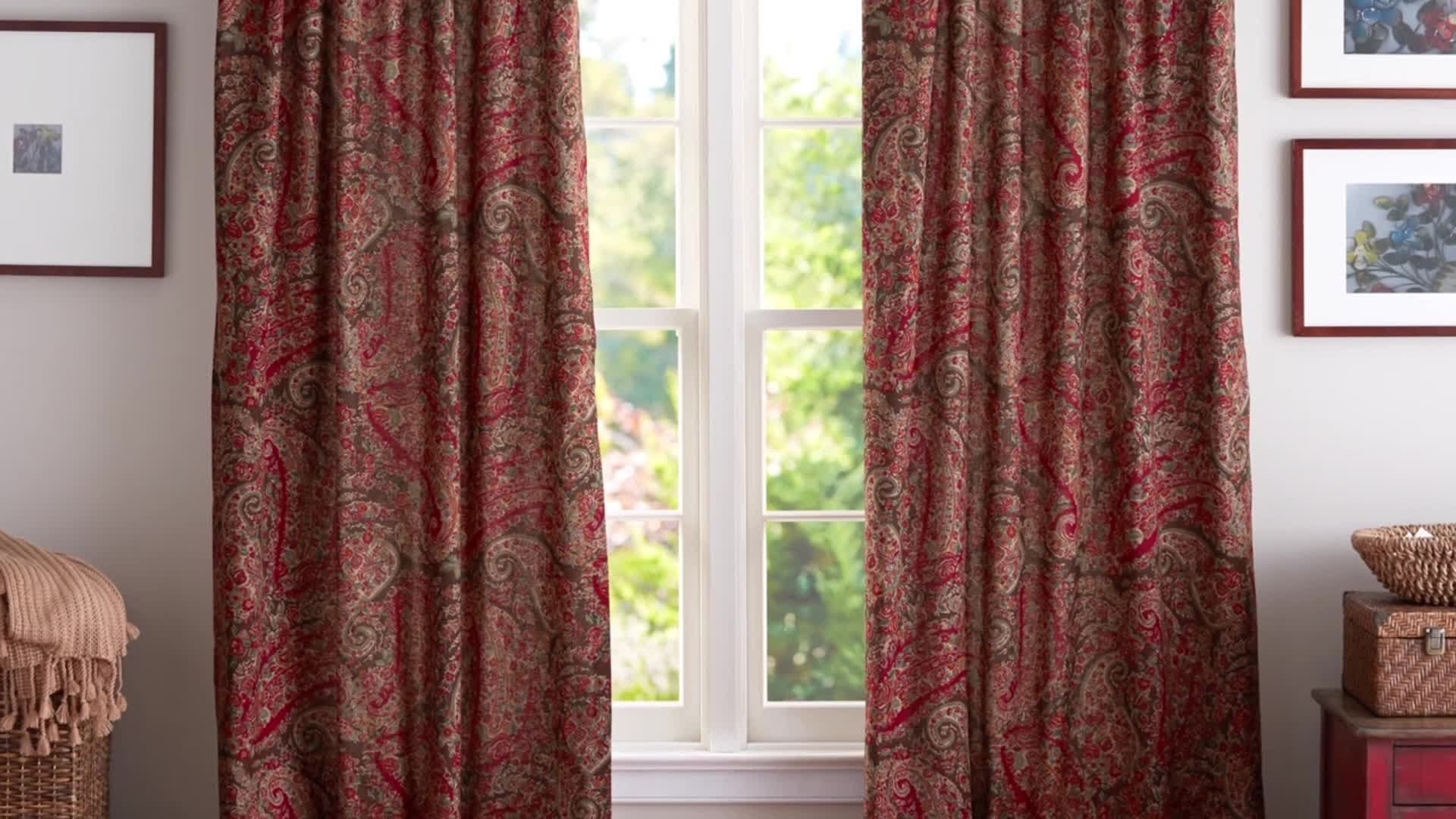 How To Hang Curtains Pottery Barn Youtube Pertaining To Hanging Curtains (View 10 of 25)