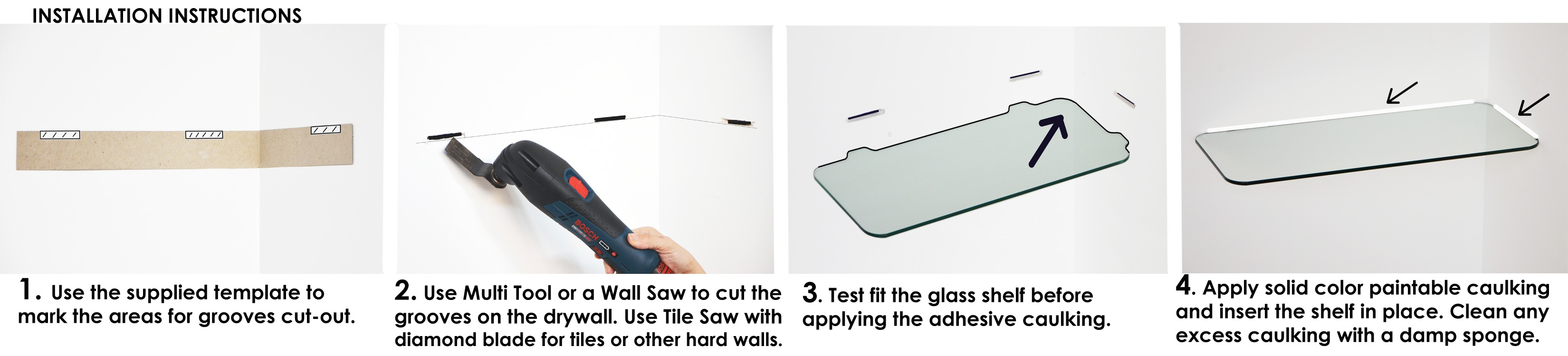 How To Install Floating Shelves Floating Glass Shelves Store Within Floating Corner Glass Shelves (Image 12 of 15)