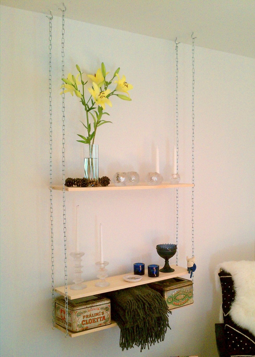 How To Make A Rope Shelf 30 Amazingly Diy Small Bathroom Storage Pertaining To Suspended Glass Display Shelves (View 14 of 15)