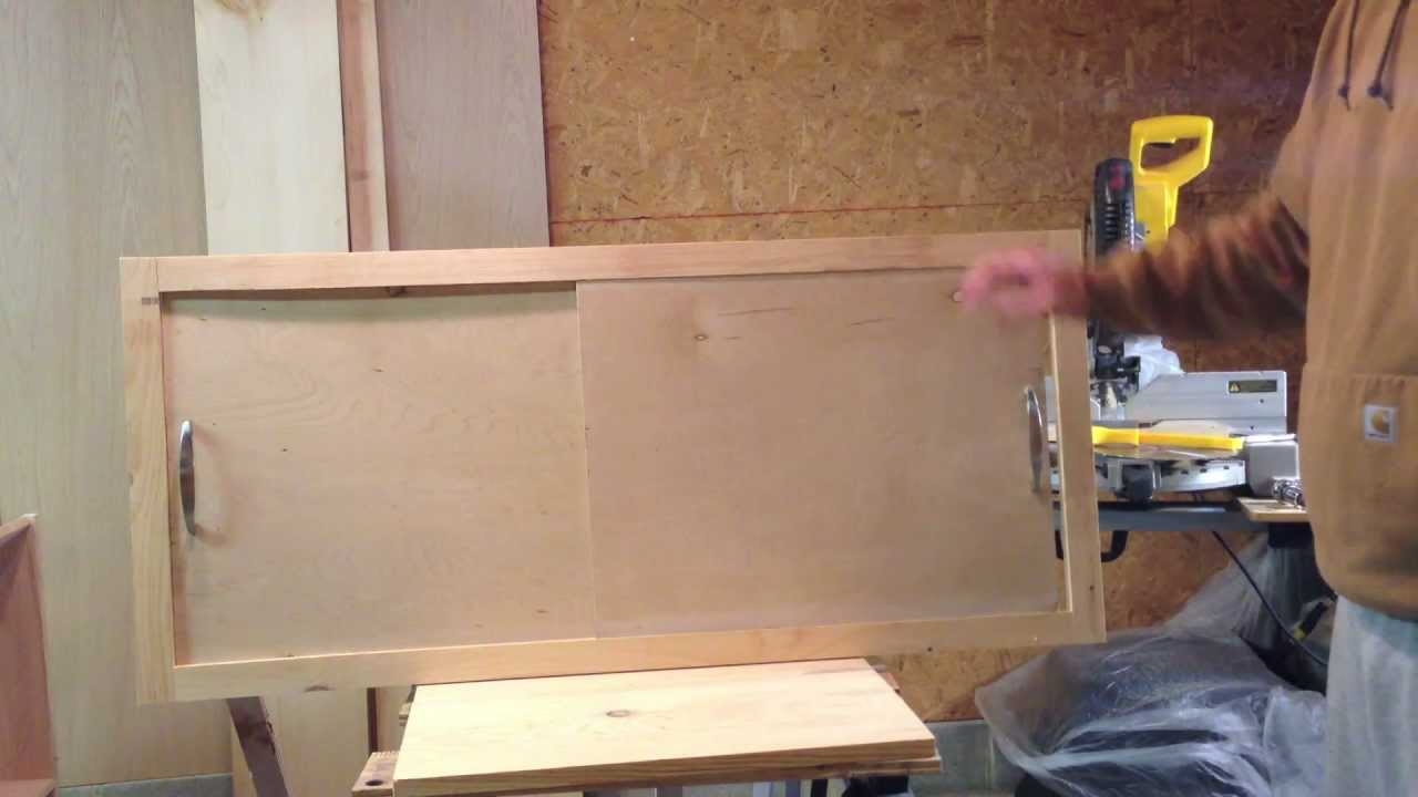 How To Make A Sliding Cabinet Faceplate And Door Youtube With Cupboard Sliding Doors (Image 10 of 25)