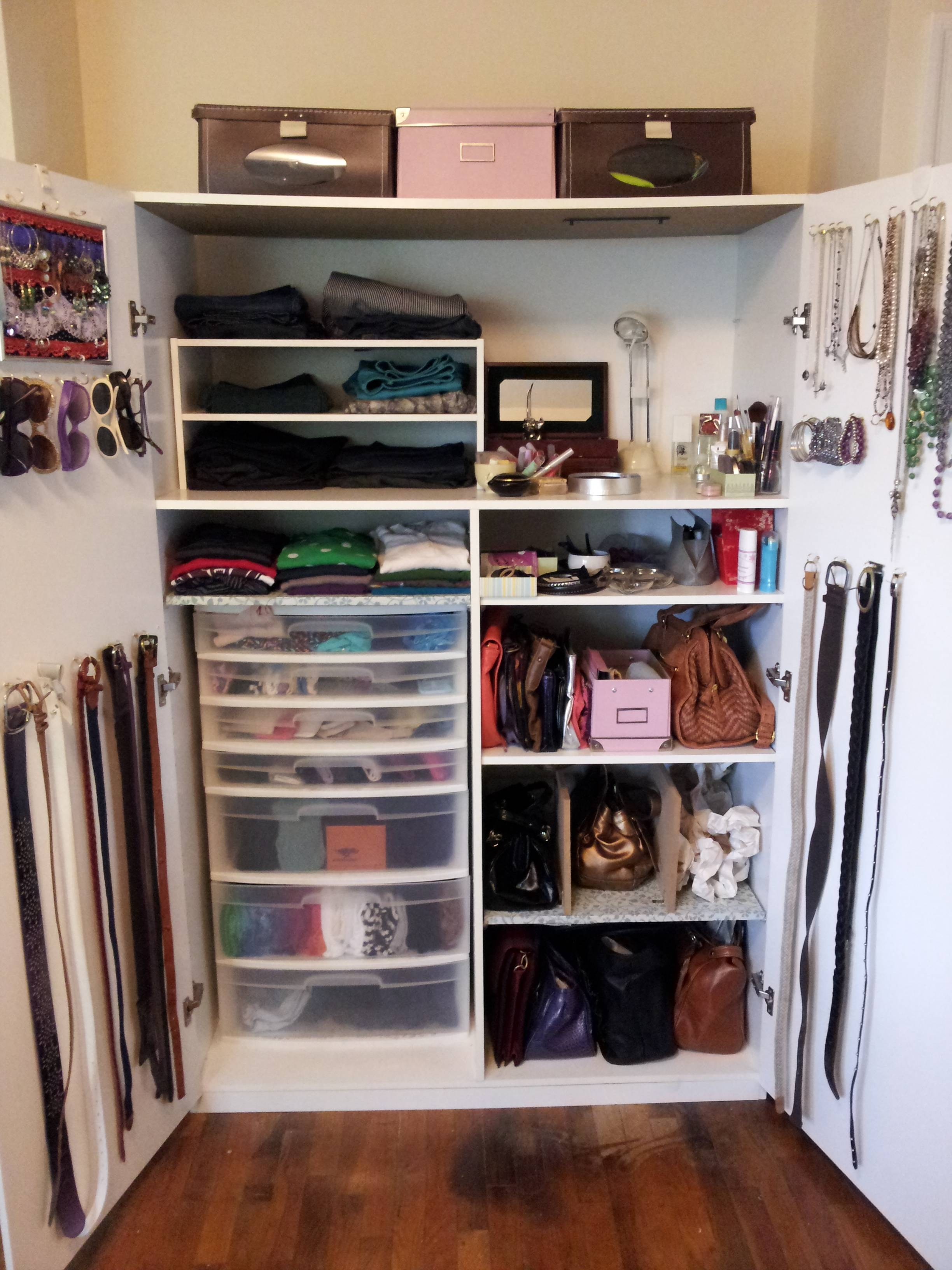 How To Organize A Lot Of Clothing In Very Little Closet Space In Bedroom Wardrobe Storages (View 16 of 25)