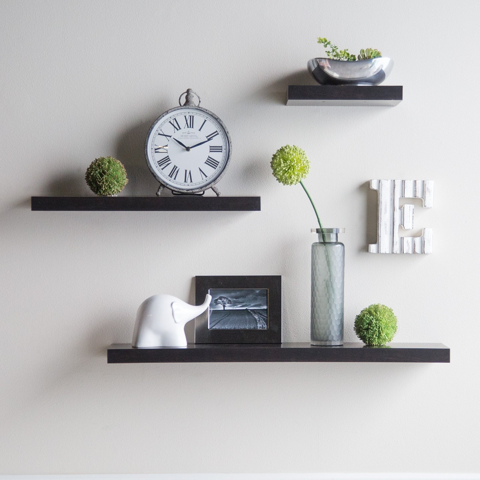 Hudson Easy Mount Floating Shelves 3 Pk 36 In24 In12 In With Floating Shelves (Image 13 of 15)