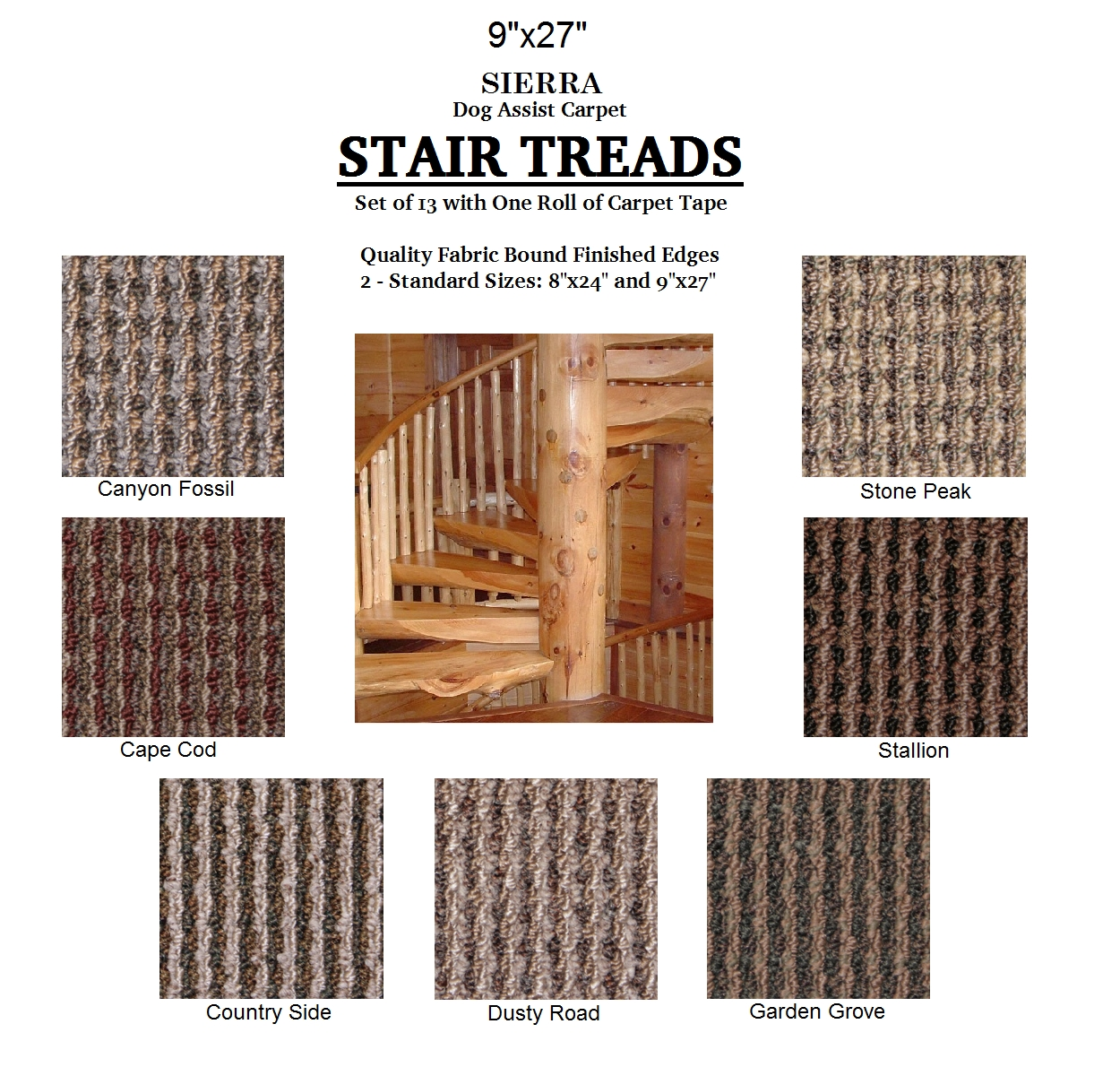Huntington Dog Assist Carpet Stair Treads Inside Fabric Stair Treads (Image 11 of 15)