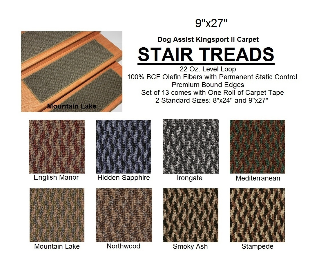 Ii Dog Assist Carpet Stair Treads In Carpet Stair Treads For Dogs (Image 10 of 15)