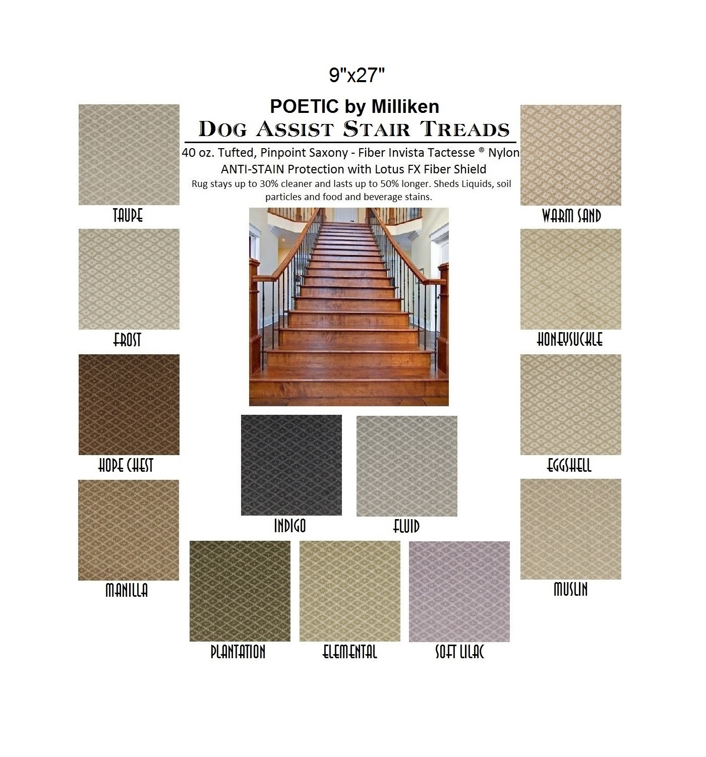 Ii Dog Assist Carpet Stair Treads In Stair Tread Rugs For Dogs (Image 12 of 15)