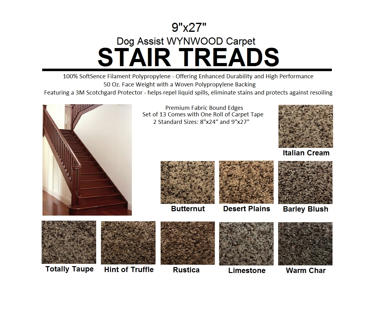 Ii Dog Assist Carpet Stair Treads Inside Fabric Stair Treads (Image 12 of 15)
