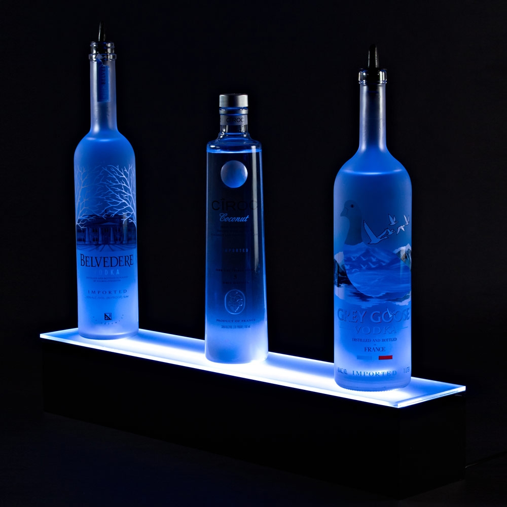 Illuminate Led Bar Shelf W Remote For Floating Glass Shelves For Bar (Image 10 of 15)