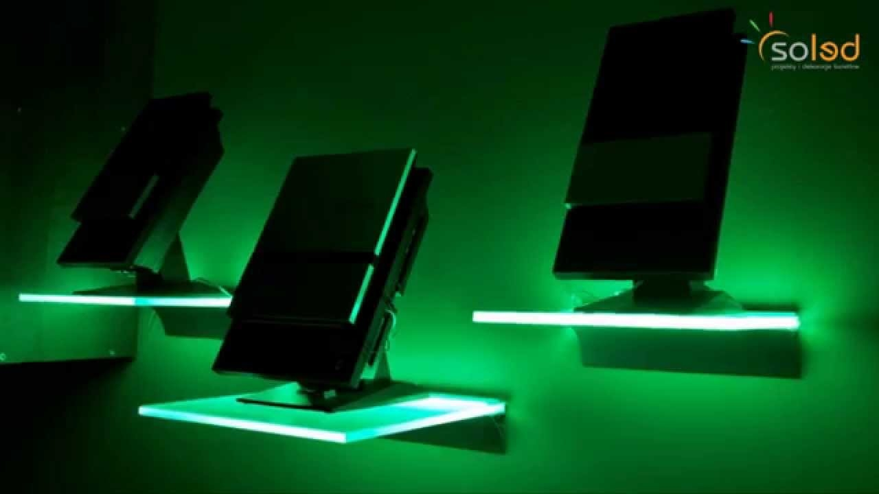 Illuminated Glass Shelves Led Shelves Made To Measure Youtube Pertaining To Led Floating Glass Shelves (Image 9 of 15)