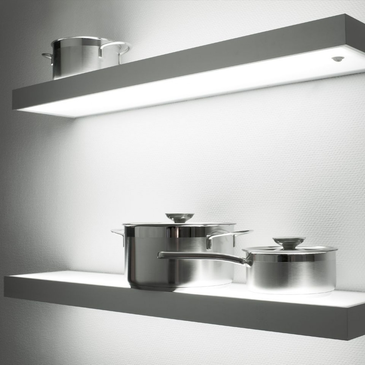 Illuminated Led Glass Box Shelf Shelf Lighting Kitchen With Regard To Illuminated Glass Shelves (Image 6 of 15)