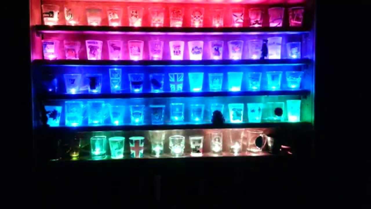 Illuminated Shot Glass Shelf Youtube Within Illuminated Glass Shelves (View 11 of 15)