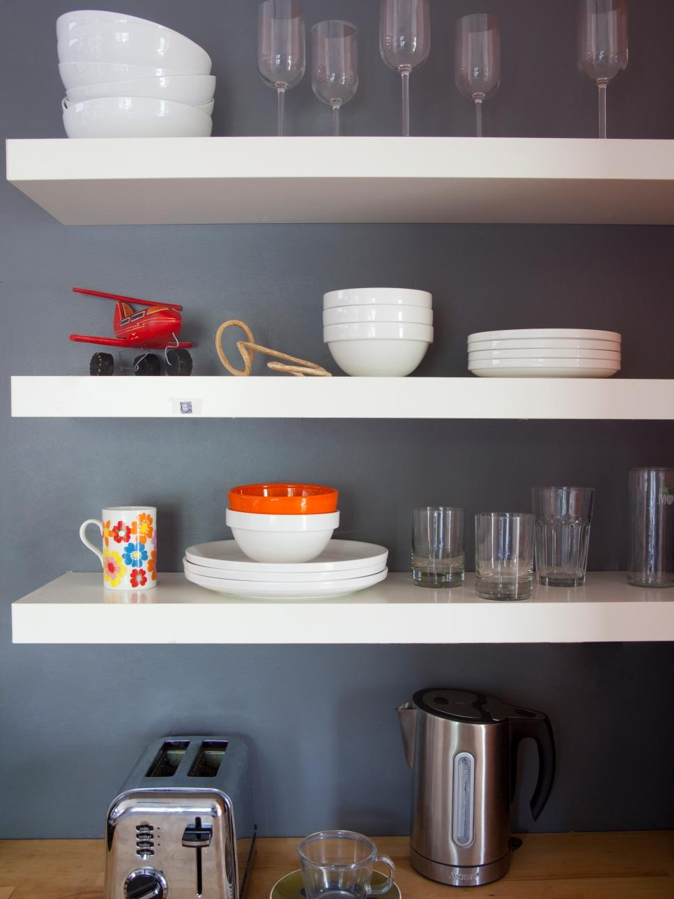 Images Of Beautifully Organized Open Kitchen Shelving Diy Intended For Kitchen Shelves (Image 8 of 15)