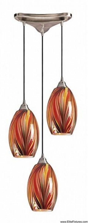 Impressive Deluxe Hand Blown Glass Pendant Lights Regarding Pleasant Hand Blown Glass Pendant Lights Lovely Pendant Decor (Image 13 of 25)