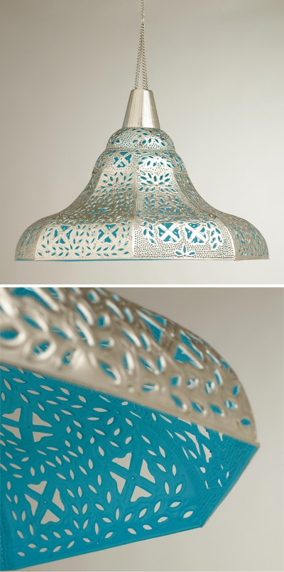 Impressive Deluxe Punched Metal Pendant Lights In Lighting Everything Turquoise Page  (Image 11 of 25)