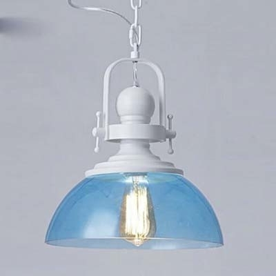 Impressive Elite Blue Pendant Light Shades Throughout Fashion Style Glass Blue Pendant Lights Industrial Lighting (Image 14 of 25)