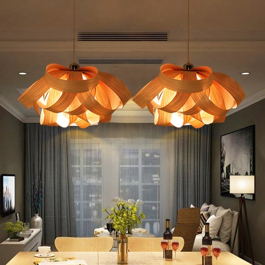 Impressive Elite Wood Veneer Lighting Pendants Intended For High Quality Wood Veneer Lights Buy Cheap Wood Veneer Lights Lots (View 18 of 25)