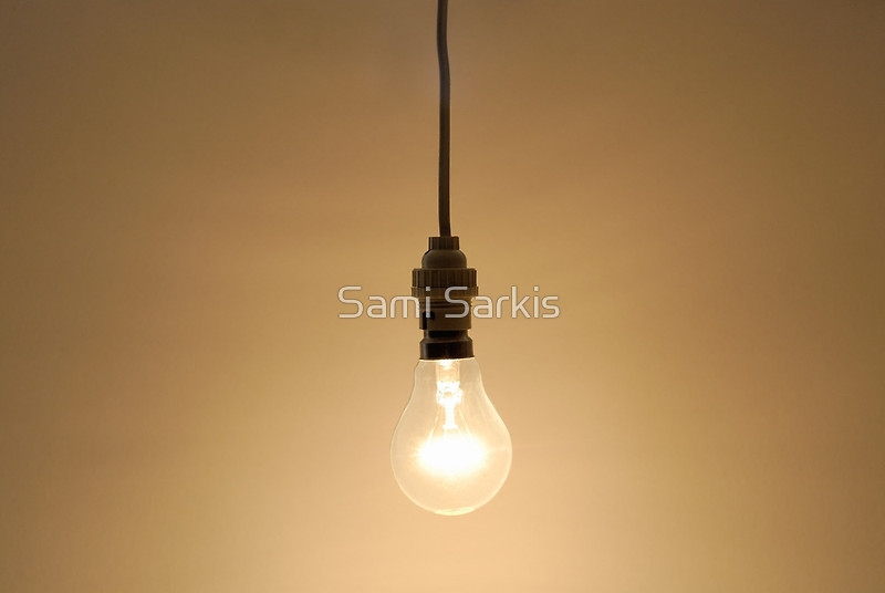 Impressive Famous Bare Bulb Hanging Light Fixtures With Regard To Bare Hanging Light Bulb Posters Sami Sarkis Redbubble (Image 12 of 25)
