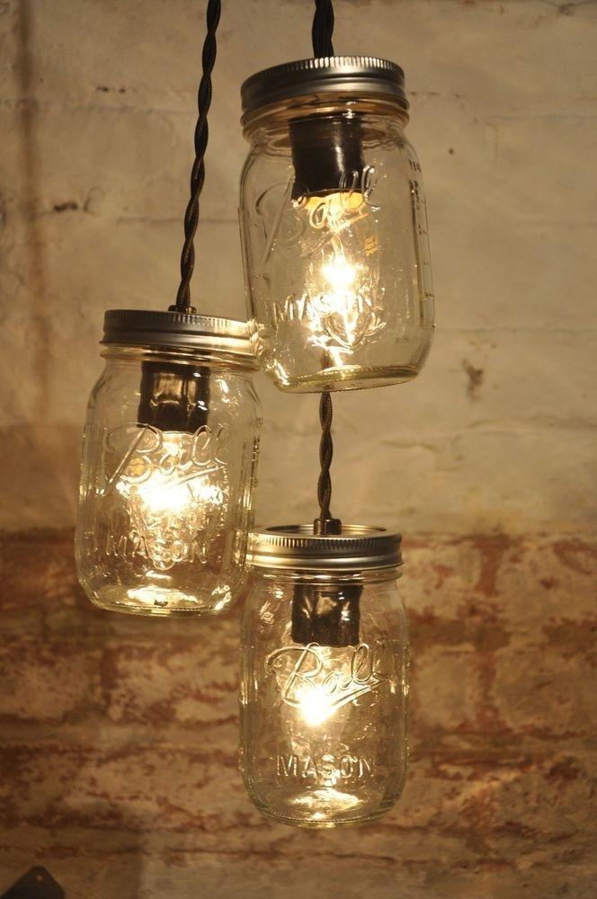 Impressive Famous Mason Jar Pendant Lamps For Jam Jar Pendant Lights Roselawnlutheran (Image 11 of 25)