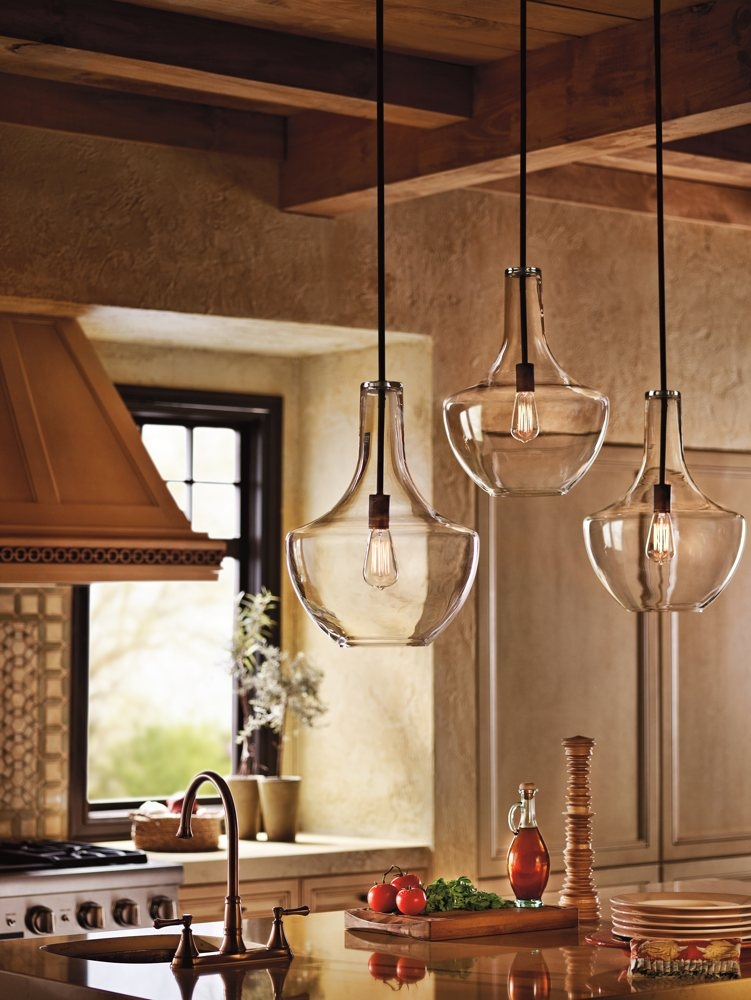 Impressive Favorite Brown Glass Pendant Lights For Kichler Lighting 42046oz Everly 1 Light Pendant Old Bronze Finish (Image 17 of 25)