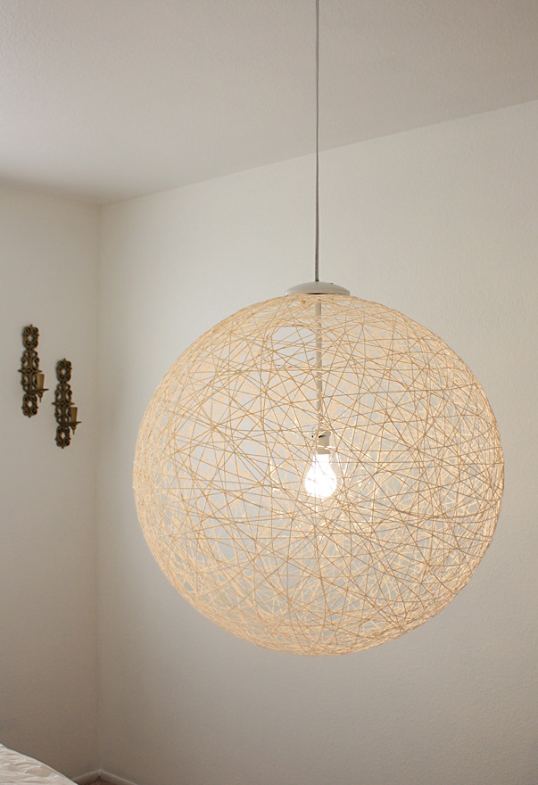 25 ideas of diy yarn pendant lights pendant lights ideas impressive favorite diy yarn pendant lights regarding my finished diy pendant light via made girl made aloadofball Image collections