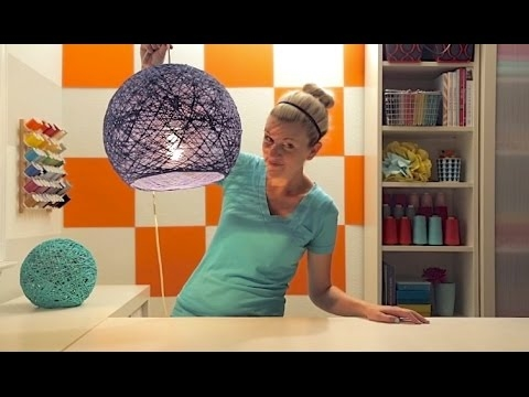 Impressive Favorite Diy Yarn Pendant Lights With How To Make Your Own Gorgeous Yarn Globe Lampshade Diy Crafts (Image 14 of 25)
