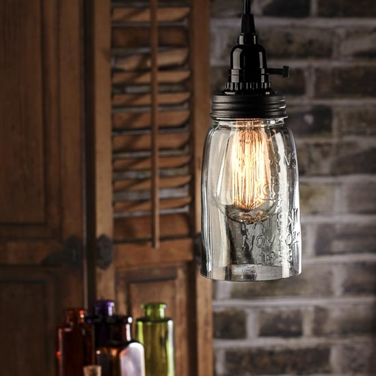 Impressive Favorite Mason Jar Pendant Lights Within Mason Jar Pendant Light Kit Hbwonong (Image 14 of 25)