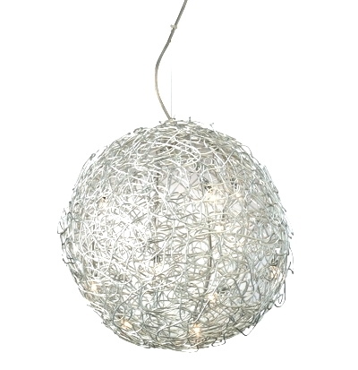Impressive Favorite Wire Ball Pendant Lights Pertaining To Mesh Ball Pendant Light Stylehive (Image 15 of 25)