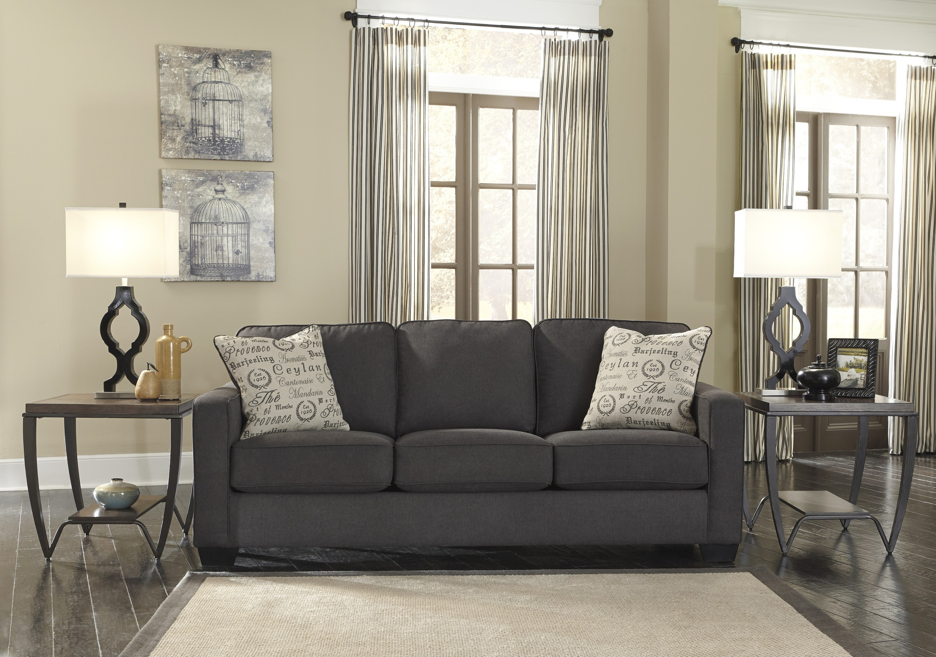 Impressive Grey Sofa Living Room Ideas Grey Sectional Living For Charcoal Grey Sofa (Image 7 of 15)