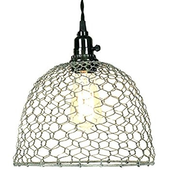 Impressive High Quality Chicken Wire Pendant Lights For Chicken Wire Dome Pendant Light In Primitive Rust Finish Ceiling (Image 14 of 25)
