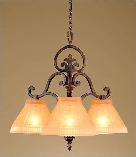 Impressive High Quality Fleur De Lis Light Fixtures Intended For Murray Feiss 3 Light Fleur De Lis Pendant Free Shipping Today (Image 12 of 25)