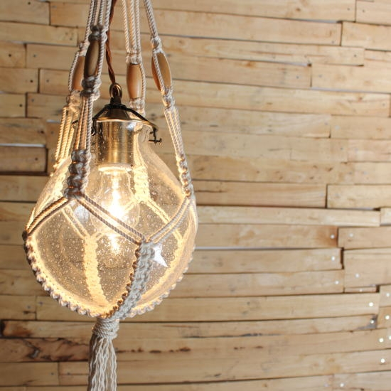 Impressive High Quality Macrame Pendant Lights For Bon Eto Rakuten Global Market Bubble Glass And Macrame Hanging Lamp (Image 16 of 25)