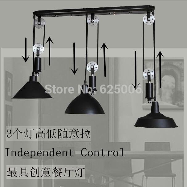 Impressive High Quality Retractable Pendant Lights With Regard To Modern Brief Black Led Ceiling Lights Vintage Bar Pendant Lights  (Image 10 of 25)