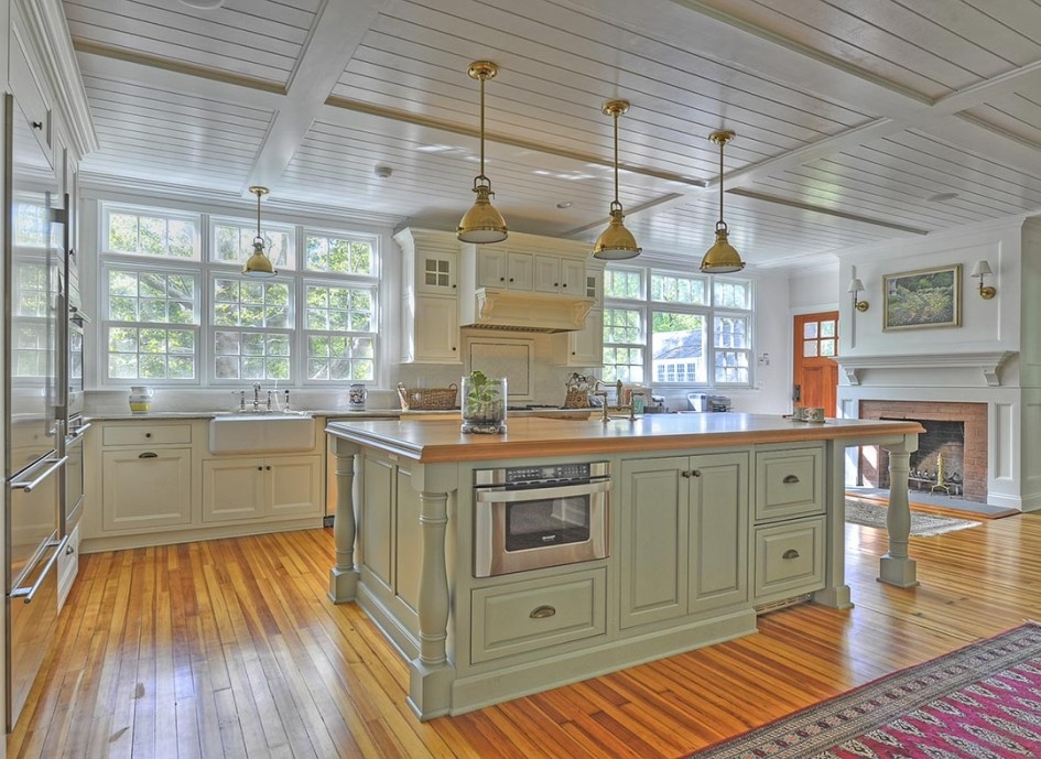 Impressive Latest Green Kitchen Pendant Lights With Riveting Sage Green Kitchen Island With Industrial Pendant (Image 14 of 25)