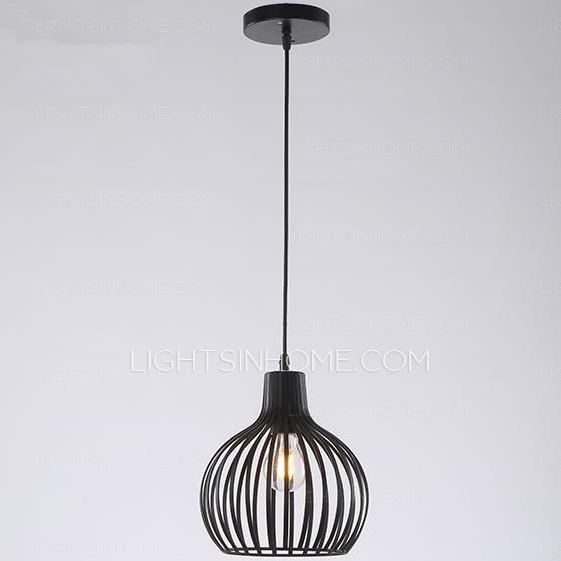 Impressive Latest Wrought Iron Pendant Lights In Creative Cage Pendant Light E26e27 Bulb Base Wrought Iron (Image 12 of 25)