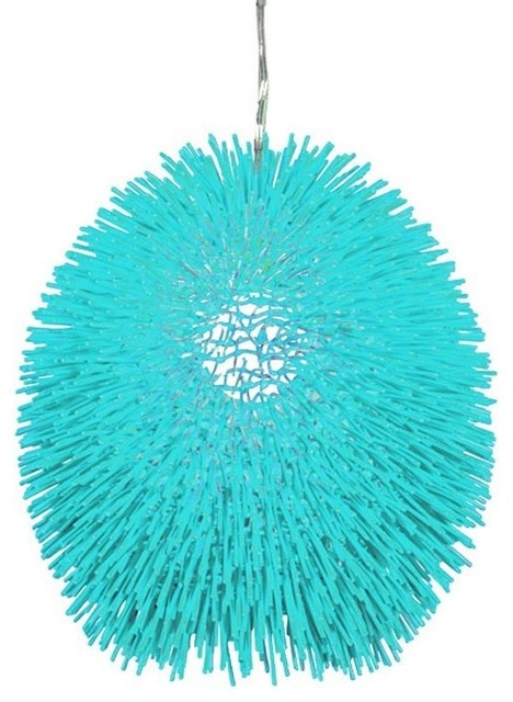 Impressive New Aqua Pendant Light Fixtures For Urchin One Light Pendant Contemporary Pendant Lighting (Image 13 of 25)