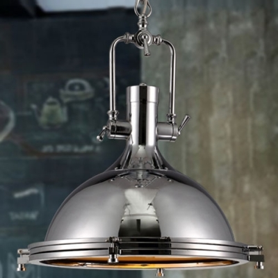 Impressive New Large Dome Pendant Lights Pertaining To Fashion Style Bowl Metal Pendant Lights Industrial Lighting (Image 15 of 25)