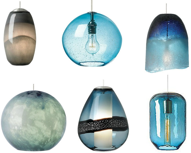 Impressive New Pale Blue Pendant Lights Regarding Blown Glass Pendant Lights This Elegant Pendant Blown Glass (Image 12 of 25)