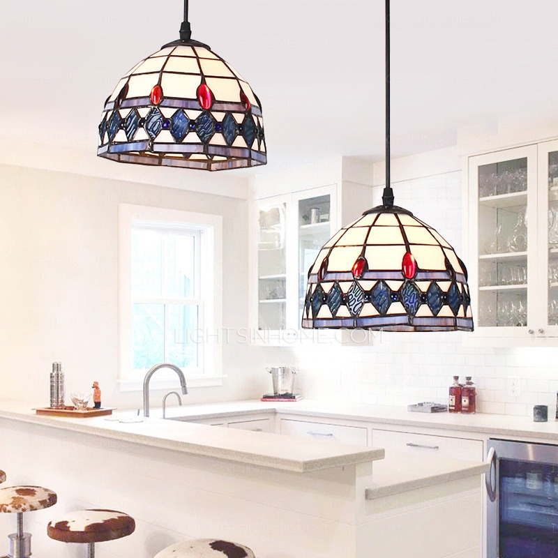 Impressive Preferred Double Pendant Lights For Kitchen Within Double Pendant Lights And 2 Light Tiffany Type For Kitchen (Image 15 of 25)