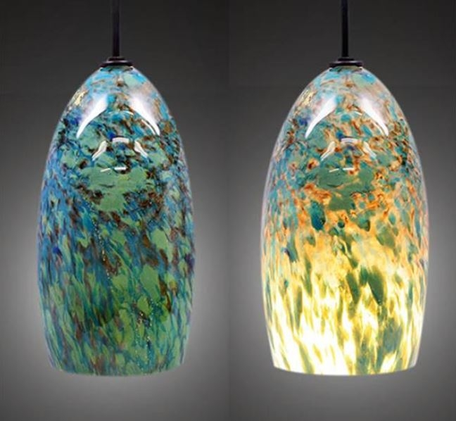 Impressive Premium Coloured Glass Pendant Lights Intended For Blown Glass Pendant Lights Uk Roselawnlutheran (View 4 of 25)