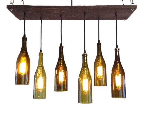 Impressive Premium Wine Bottle Pendant Light In Best 25 Wine Bottle Chandelier Ideas On Pinterest Bottle (Image 13 of 25)