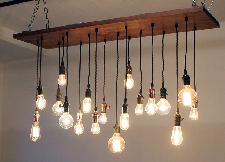 Impressive Premium Wooden Pendant Lights For Sale Throughout The Wooden Beam Is Just Right For These Lightsreally Love This (View 22 of 25)