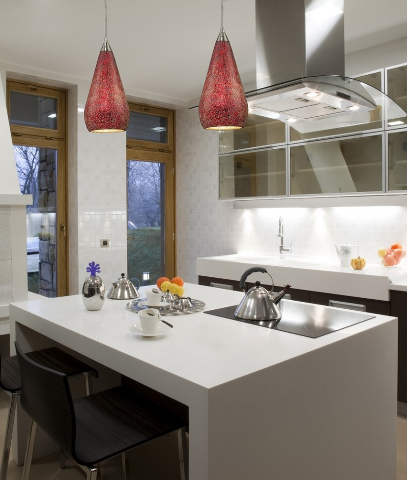 Impressive Series Of Crackle Glass Pendant Lights With Sparkling Pendant Lights For Kitchens Decohoms (Image 15 of 25)