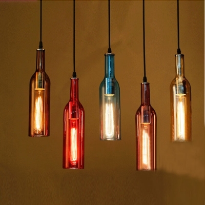 Impressive Series Of Liquor Bottle Pendant Lights Within Iudustrial Pendant Light Liquor Bottle Repurposed Beautifulhalo (Image 14 of 25)