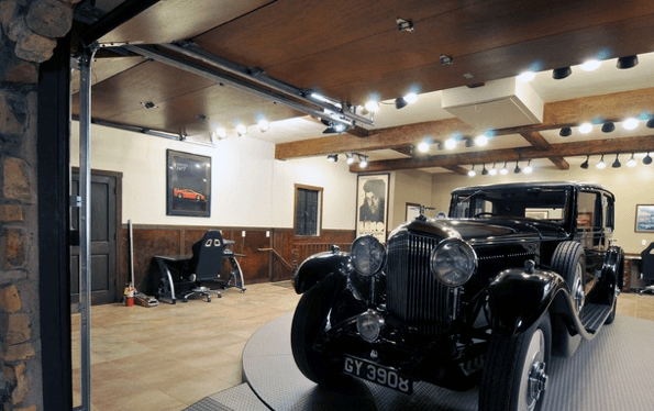 Impressive Series Of Luxury Track Lighting With Regard To 50 Garage Lighting Ideas For Men Cool Ceiling Fixture Designs (View 25 of 25)