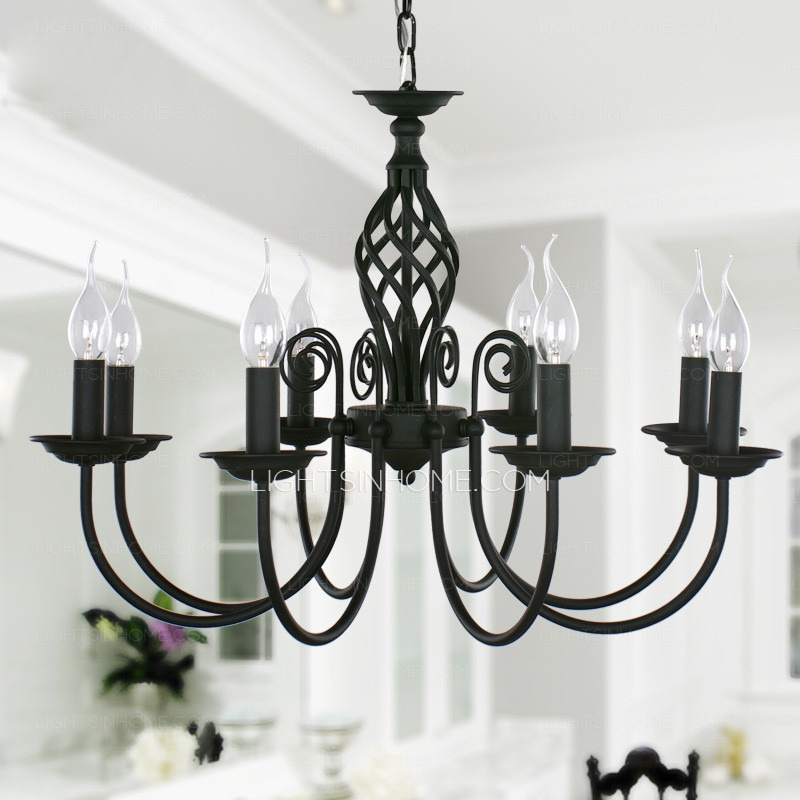 Impressive Series Of Wrought Iron Lights Throughout Black Wrought Iron Chandeliers Large Wrought Iron Chandeliers (Image 15 of 25)