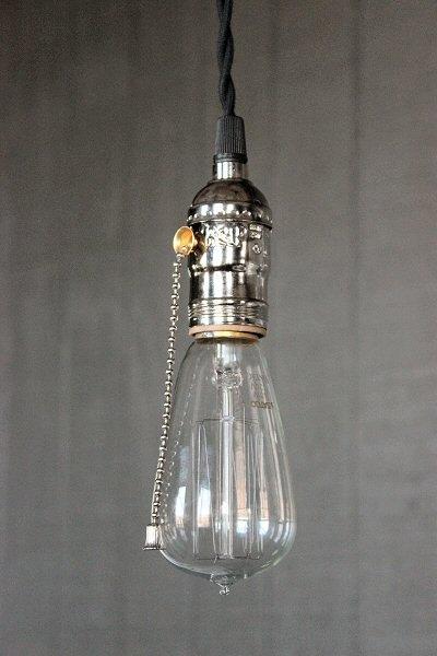 Impressive Trendy Three Light Bare Bulb Pendants Intended For Industrial Bare Bulb Pendant Light Silver Pull Chain Socket (Image 13 of 25)