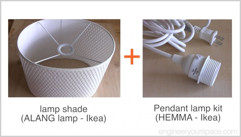 Impressive Unique Ikea Pendant Light Kits Regarding Ikea Hack Easy Diy Pendant Lamp With Alang Lamp Shade Smart Diy (Image 15 of 25)