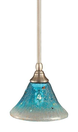Impressive Variety Of Aqua Pendant Light Fixtures In Toltec Lighting 23 Bn 458 Stem Mini Pendant Light Brushed Nickel (Image 15 of 25)