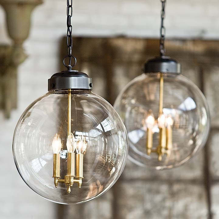 Impressive Variety Of Glass Orb Pendant Lights In Clear Glass Orb Pendant Large British Home Emporium Bhe Studio (Image 10 of 25)