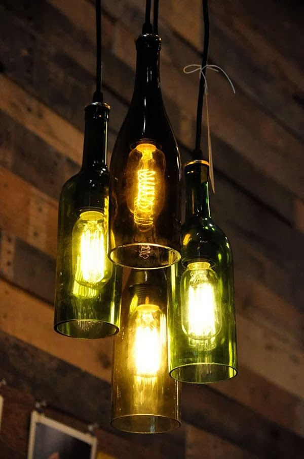 Impressive Variety Of Liquor Bottle Pendant Lights Inside 32 Incredible Ways Of Creating Beauty Out Of Things You Are (View 8 of 25)