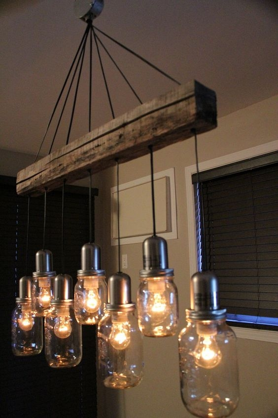 Impressive Variety Of Mason Jar Pendant Lamps With Tips Para Darle Un Toque Vintage A Tu Hogar Upcycling (View 7 of 25)